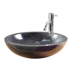 Tikamoon - Vasque noire en marbre Calypso Black - Lavabos