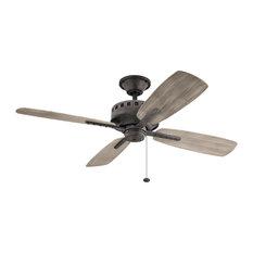"Kichler - Kichler 52"" Ceiling Fan, Weathered Zinc - Ceiling Fans"