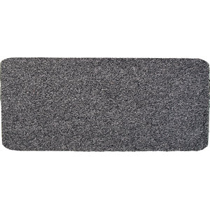 Large Solid Cotton Rug, Grey, 130x75 cm