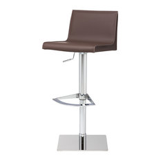 Colter Adjustable Bar Stool Modern Contemporary Counter Stool Leather Mink Tan