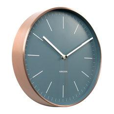 Karlsson Minimal Copper Clock, Blue