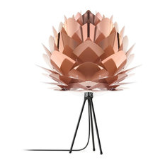 "Silvia 31"" H Table Lamp, Black/Copper"