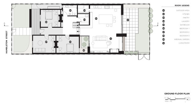Contemporary Floor Plan by BALDASSO CORTESE
