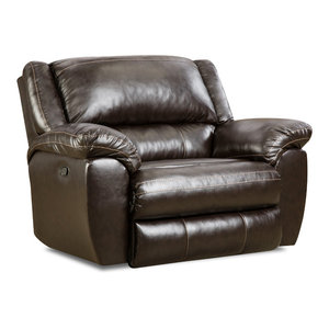 Ashley Power Rocker Recliner With Gray Transitional