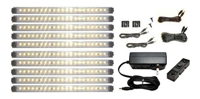 Led under cabinet lighting kit pro series 21 led super deluxe kit warm white
