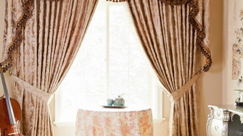 """""""Baroque Floral"""" Elegant Designer Valance curtains with swags and tails by celuc"""