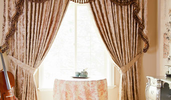 """Baroque Floral"" Elegant Designer Valance curtains with swags and tails by celuc"
