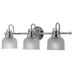 Luxury Industrial Bath Vanity Light, Harlow Series, Polished Chrome
