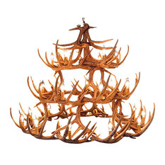 muskoka lifestyle products faux rustic whitetail antler chandelier 42 antlers 27 lights