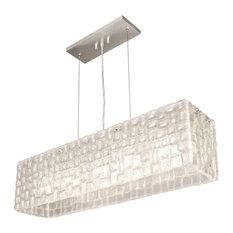 Fine Art Lamps 846740 Constructivism Moonlit Mist Clear Glass Pendant