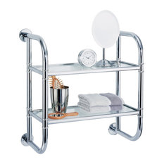 2-Tier Metal Bathroom Shelf