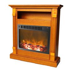 "33.9""x10.4""x37"" Sienna Fireplace Mantel With Insert"