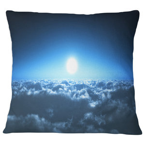X 18 In Insert Printed On Both Side Sofa Throw Pillow 18 In In Designart Cu9353 18 18 Summer Night With Blue Sky Skyline Photography Cushion Cover For Living Room Decorative Pillows Inserts