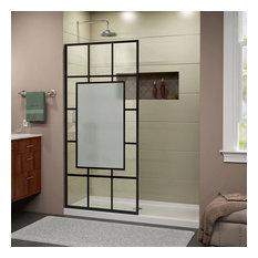 """DreamLine French Linea AvignonFrameless Door34""""x72""""Design.Satin Black"""
