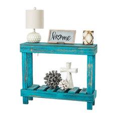 Barnwood Entry Table, Turquoise