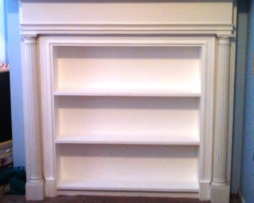 Built-in Bookshelves for Fireplace - Indoor Fireplaces