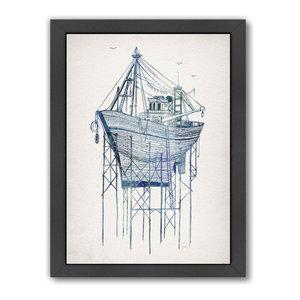 """Dry Dock 1,"" Art Print, 9""x11""x1"""