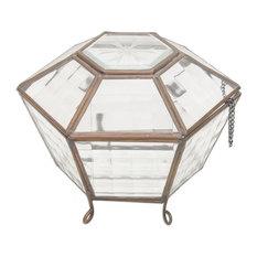 Tamansari Oasis Glass and Brass Terrarium