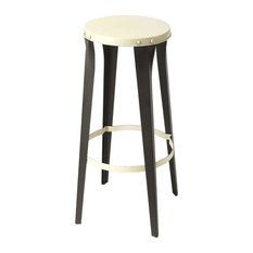 Butler Transitional Industrial Chic Round Multi Color Bar Stool