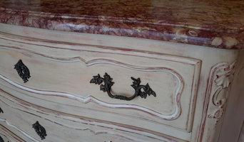 Relooking d'une commode style Louis XV à la caséine