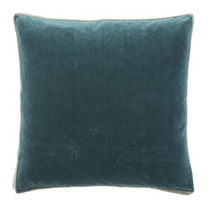 Jaipur Living Bryn Solid Throw Pillow, Teal, Down Fill