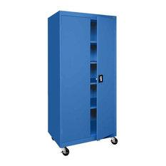 Sandusky - Transport Mobile Series Storage Cabinet in Blue - Storage ...