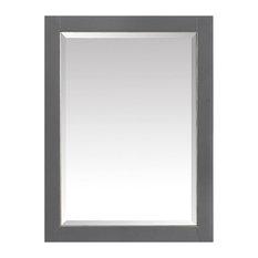 """Avanity 22"""" Mirror Cabinet For Allie/Austen, Twilight Gray With Matte Gold Trim"""