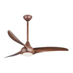 Large ceiling fans houzz minka aire wave 3 blade ceiling fan with led light distressed koa aloadofball Gallery