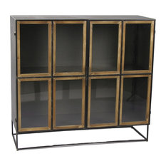 Structure Horizontal Mango Wood Display Cabinet