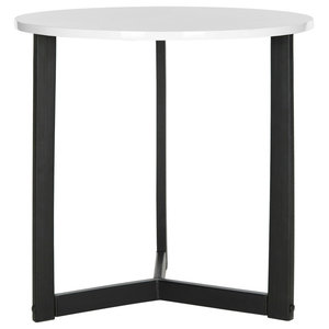 Safavieh Ava Lacquer End Table, White and Black