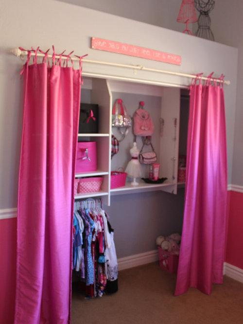 Closet Door Curtain Ideas, Pictures, Remodel and Decor