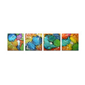 Sunny Days, Colorful Metal Wall Art, Neon Rainbow Color Splash