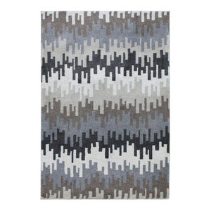 Vogue VG28 Rug, Grey and Taupe, 80x150 cm