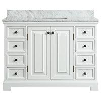 Spencer White Bathroom Vanity, 48''