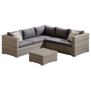 Palm Harbor 8 Piece Outdoor Wicker Seating Set With Gray