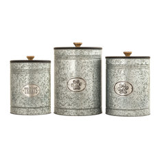 Pomeroy Traditional Pawell Set Of 3 Pet Canisters With Silver Finish 771750