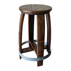 Alpine Wine Design - Swivel Wine Barrel Counter Stool Red Mahogany Finish - Bar Stools  sc 1 st  Houzz : wine barrel stools - islam-shia.org