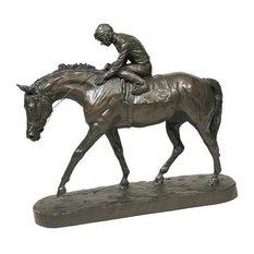 Sculpture Statue EQUESTRIAN Traditional