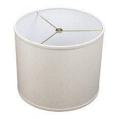 "Fenchel Shades - 12""x12""x10"" FenchelShades Drum Lampshade, Linen Ivory - Lamp Shades"