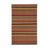 Ooty Stripe Wool Kilim Rug, Small