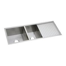 Elkay Crosstown 16 Gauge Stainless Steel 60/40 Sink With Drainboard