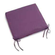 "20""x19"" Twill Chair Cushion, Purple"