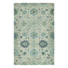 Kaleen Chancellor Hand-Tufted Rug, Turquoise, 10'x14'