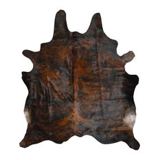 Cowhide Rug Dark Brindle