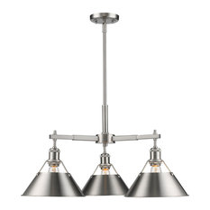 Orwell 3-Light Nook Chandelier, Pewter Pewter Shade
