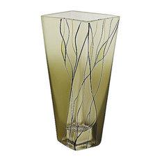 Evergreen European Design 8 inch Square Vase