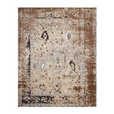 Aldey Brown Pixel Camo Cotton Rug, 8'x10'