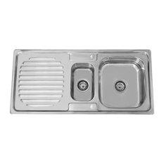 Enki Stainless Steel One Half Bowl Reversible Inset Kitchen Sink Drainer