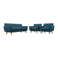Azure Engage Armchairs And Loveseat Set Of 3
