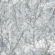 Blue Enchanted Forest Wallpaper, Glass Fibre, 200x200 cm